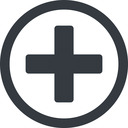 plus-solid line, circle, plus, add, new, medical, plus-solid, create, addition, +, more, medic free icon 128x128 128x128px