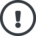 warning-solid line, wide, circle, mark, warning, exclamation, warning-solid, alert free icon 128x128 128x128px