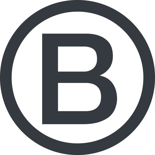 bootstrap-b line, circle, logo, brand, bootstrap, b, letter, bootstrap-b free icon 512x512 512x512px