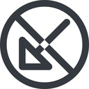 arrow-corner-wide line, down, wide, circle, arrow, prohibited, corner, arrow-corner-wide free icon 128x128 128x128px