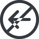 arrow-simple-wide line, left, circle, arrow, direction, prohibited, arrow-simple-wide free icon 128x128 128x128px