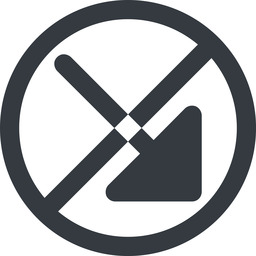 arrow-corner-solid line, right, wide, circle, arrow, prohibited, corner, arrow-corner-solid free icon 256x256 256x256px
