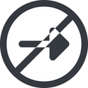arrow-solid line, right, wide, circle, arrow, prohibited, arrow-solid free icon 128x128 128x128px
