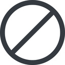 circle line, wide, circle, horizontal, mirror, prohibited free icon 128x128 128x128px