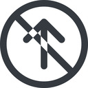 arrow-simple-wide line, up, circle, arrow, direction, prohibited, arrow-simple-wide free icon 128x128 128x128px