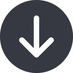 arrow-simple-wide down, solid, circle, arrow, direction, arrow-simple-wide free icon 256x256 256x256px