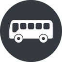 bus-side wide, solid, circle, horizontal, mirror, car, vehicle, transport, bus, side, bus-side free icon 128x128 128x128px