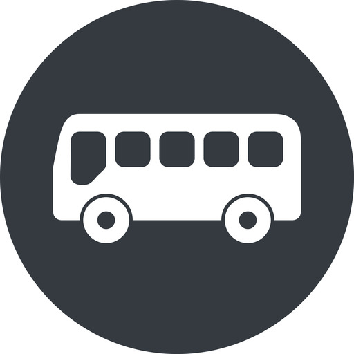 bus-side wide, solid, circle, horizontal, mirror, car, vehicle, transport, bus, side, bus-side free icon 512x512 512x512px