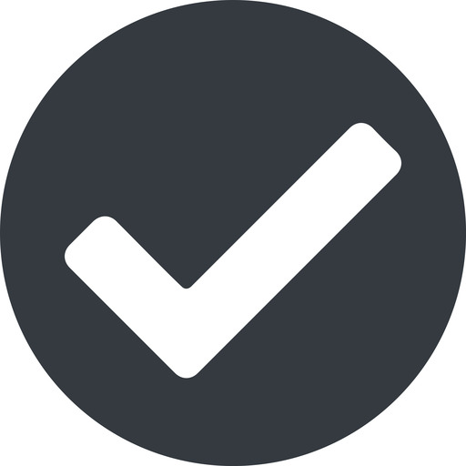 check wide, solid, circle, check, ok, valid, checked, done, confirm, confirmed, success, yes free icon 512x512 512x512px