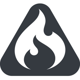 codeigniter triangle, wide, solid, equilateral, logo, brand, icon, codeigniter, igniter, code, php, framework, flame, fire free icon 256x256 256x256px