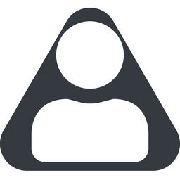 user-solid triangle, wide, solid, equilateral, user, man, woman, person, user-solid free icon 256x256 256x256px