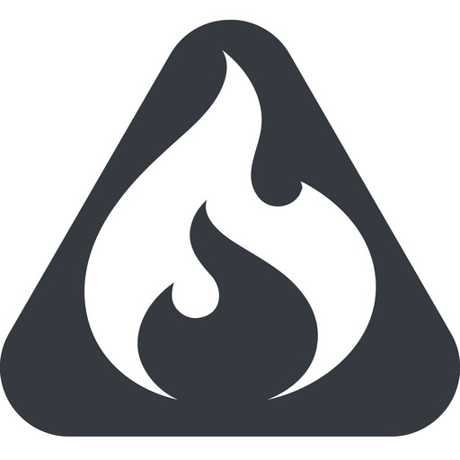 codeigniter triangle, wide, solid, equilateral, logo, brand, icon, codeigniter, igniter, code, php, framework, flame, fire free icon 512x512 512x512px