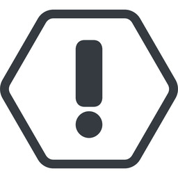 exclamation-mark line, normal, hexagon, mark, warning, exclamation, straight, info, exclamation-mark free icon 256x256 256x256px