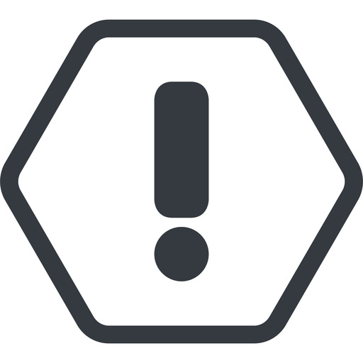 exclamation-mark line, normal, hexagon, mark, warning, exclamation, straight, info, exclamation-mark free icon 512x512 512x512px