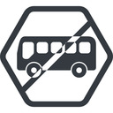bus-side line, normal, wide, hexagon, horizontal, mirror, car, vehicle, transport, prohibited, bus, side, bus-side free icon 128x128 128x128px