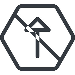 arrow line, up, normal, hexagon, arrow, prohibited free icon 256x256 256x256px