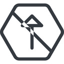 arrow line, up, normal, hexagon, arrow, prohibited free icon 128x128 128x128px