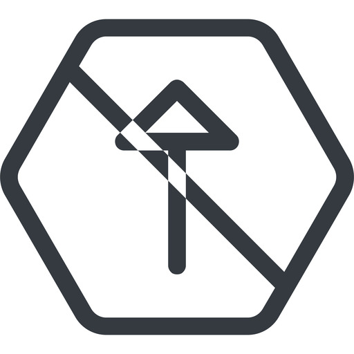 arrow line, up, normal, hexagon, arrow, prohibited free icon 512x512 512x512px