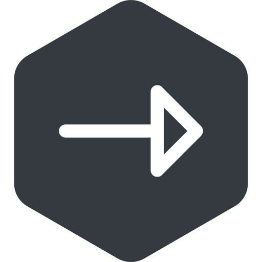 arrow right, normal, solid, hexagon, arrow free icon 512x512 512x512px