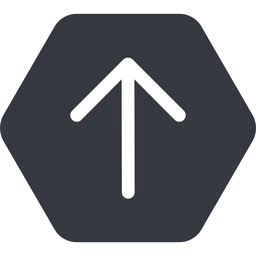 arrow-simple up, solid, hexagon, arrow, direction, arrow-simple free icon 256x256 256x256px