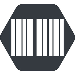 barcode up, normal, solid, hexagon, barcode free icon 256x256 256x256px