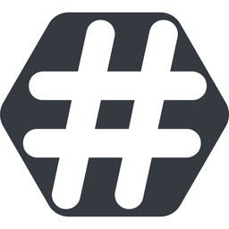 hashtag-solid normal, solid, hexagon, social, hashtag, hashtag-solid free icon 256x256 256x256px