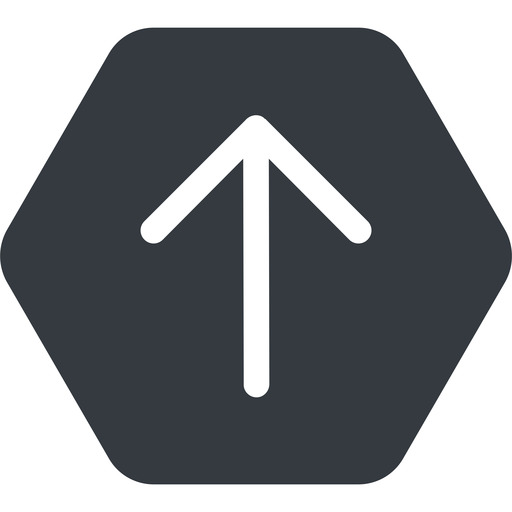 arrow-simple up, solid, hexagon, arrow, direction, arrow-simple free icon 512x512 512x512px