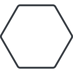 hexagon thin, line, up, hexagon free icon 256x256 256x256px
