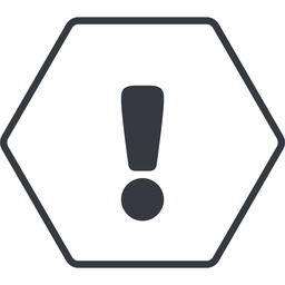 warning-solid thin, line, hexagon, mark, warning, exclamation, warning-solid, alert free icon 256x256 256x256px