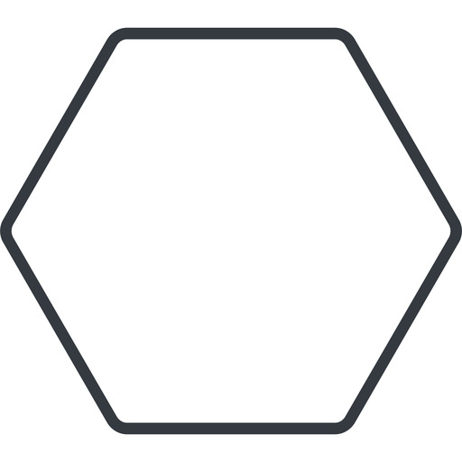 hexagon thin, line, up, hexagon free icon 512x512 512x512px