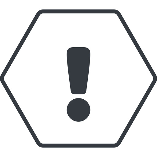 warning-solid thin, line, hexagon, mark, warning, exclamation, warning-solid, alert free icon 512x512 512x512px