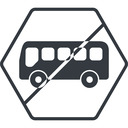 bus-side thin, line, wide, hexagon, horizontal, mirror, car, vehicle, transport, prohibited, bus, side, bus-side free icon 128x128 128x128px