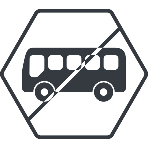 bus-side thin, line, wide, hexagon, horizontal, mirror, car, vehicle, transport, prohibited, bus, side, bus-side free icon 512x512 512x512px