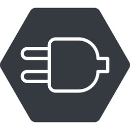 plug-thin thin, down, solid, hexagon, electricity, plug, charge, charger, electric, plug-thin, electrics, electrical free icon 256x256 256x256px
