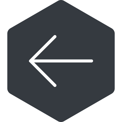 arrow-simple-thin thin, left, solid, hexagon, arrow, direction, arrow-simple-thin free icon 512x512 512x512px