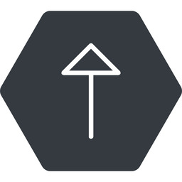 arrow-thin thin, up, solid, hexagon, arrow, arrow-thin free icon 256x256 256x256px
