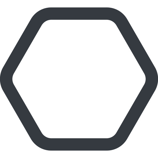 hexagon line, up, wide, hexagon free icon 512x512 512x512px