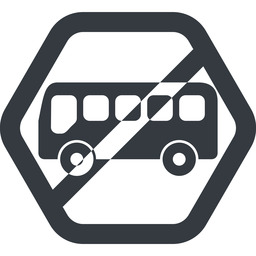 bus-side line, wide, hexagon, horizontal, mirror, car, vehicle, transport, prohibited, bus, side, bus-side free icon 256x256 256x256px