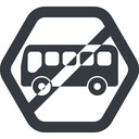 bus-side line, wide, hexagon, horizontal, mirror, car, vehicle, transport, prohibited, bus, side, bus-side free icon 128x128 128x128px