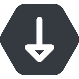 arrow-wide down, wide, solid, hexagon, arrow, arrow-wide free icon 256x256 256x256px