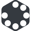 spinner-wide left, wide, solid, hexagon, spinner, spin, wait, load, loading, spinner-wide, loader free icon 128x128 128x128px