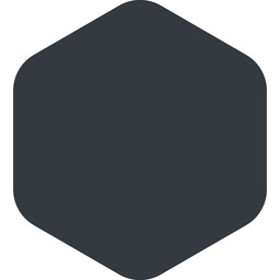hexagon right, wide, solid, hexagon free icon 256x256 256x256px