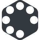 spinner-wide right, wide, solid, hexagon, spinner, spin, wait, load, loading, spinner-wide free icon 128x128 128x128px