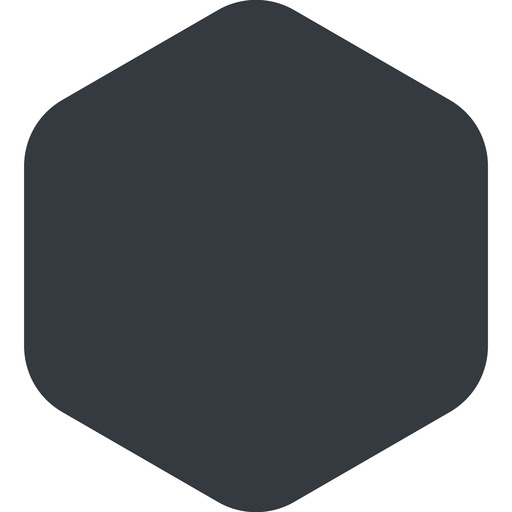 hexagon right, wide, solid, hexagon free icon 512x512 512x512px