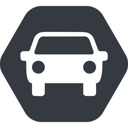 car-front-small up, solid, hexagon, car, front, vehicle, transport, car-front-small free icon 256x256 256x256px