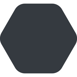 hexagon up, wide, solid, hexagon free icon 256x256 256x256px