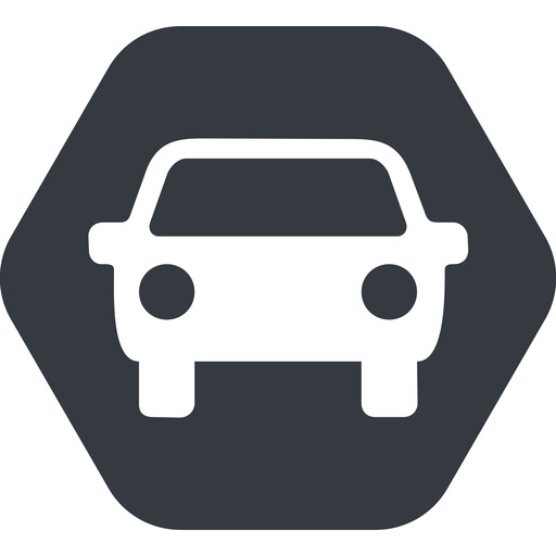 car-front-small up, solid, hexagon, car, front, vehicle, transport, car-front-small free icon 512x512 512x512px