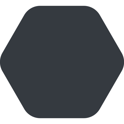 hexagon up, wide, solid, hexagon free icon 512x512 512x512px