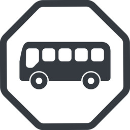 bus-side line, normal, wide, octagon, horizontal, mirror, car, vehicle, transport, bus, side, bus-side free icon 256x256 256x256px