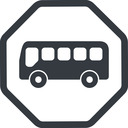 bus-side line, normal, wide, octagon, horizontal, mirror, car, vehicle, transport, bus, side, bus-side free icon 128x128 128x128px